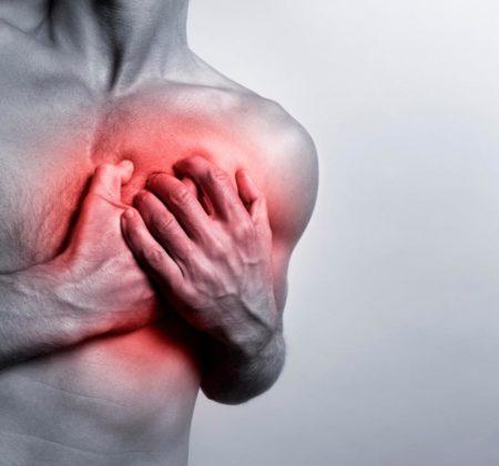 Колит в области сердца при вдохе — причины неприятного симптома ...